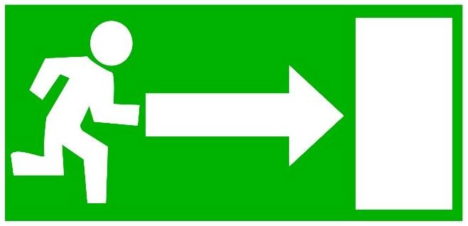 Ausweg narzisstisches Dilemma Notausgang grün