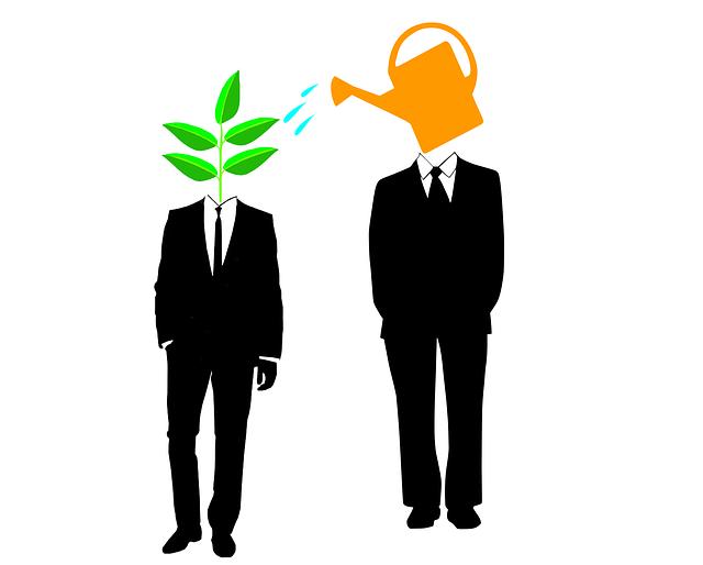Mentoring Matching Methoden Gießkanne Blatt Businessman.png
